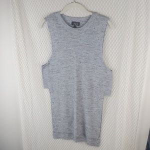 Topshop slit side knotted tank